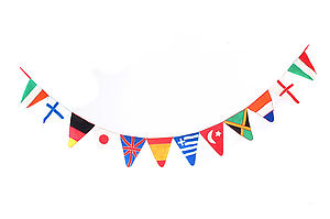 Handmade Felt World Flag Bunting - baby & child