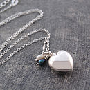 Sterling Silver Heart And Pearl Locket Necklace