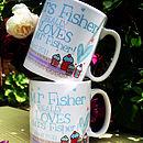 Personalised 'Mr' or 'Mrs' Love Mug