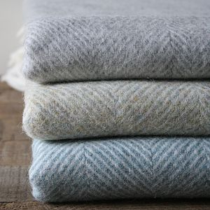 Herringbone Merino Lambswool Throw