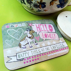 Set Of Personalised Coasters - placemats & coasters