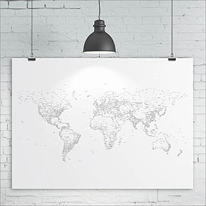 Typography World Map Print - posters & prints