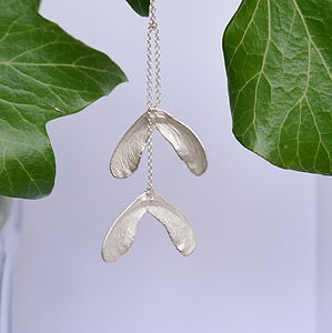 Sterling Silver Double Sycamore Rope Necklace