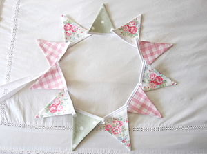 Floral Mini Bunting ~ Various Designs - living room