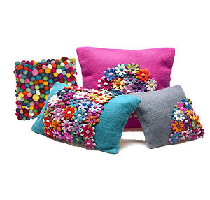 Handmade Felt Cushion Multiple Design - cushions