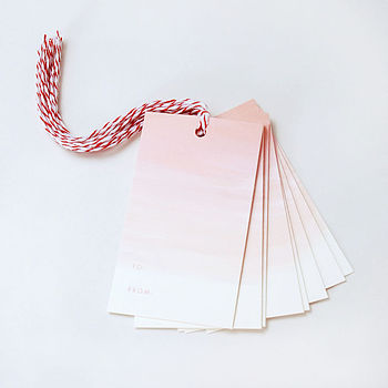 Set Of 10 Ombre Gift Tags