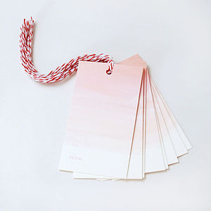 Set Of 10 Ombre Gift Tags - diy stationery