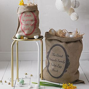 Personalised Easter Sack - easter egg hunt
