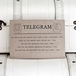 Telegram Thank You Card - shop by category
