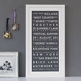Personalised Couple's Destination Print - sale