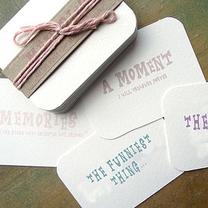 'A Gift Of Memories' Cards