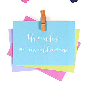 Mini 'Thank You' Notecards - toys & games