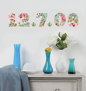 'Personalised Floral Lettering' Wall Stickers