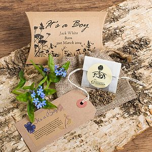 It's A Boy Announcement Seeds Gift
