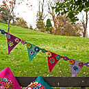 Handmade Felt Multicoloured Flower Bunting