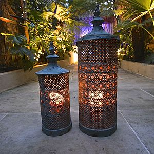 Verdigris Medina Lantern - lighting