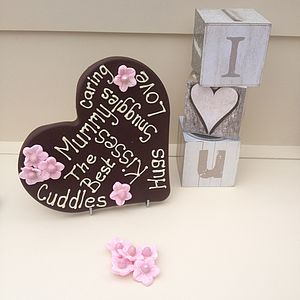 Personalised Mothers Giant Chocolate Heart