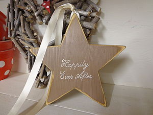 'Happily Ever After' Star Or Heart Decoration - outdoor decorations