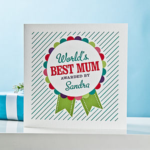 Worlds Best Mum Card - personalised