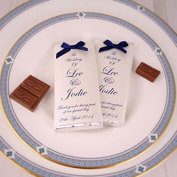 Bow Chocolate Wedding Favours