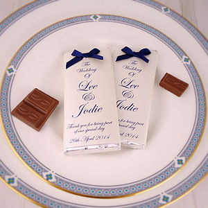 Bow Chocolate Wedding Favours - edible favours