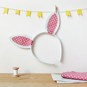 Make Your Own Rabbit Ears Craft Kit - easter clothing & fancy dress