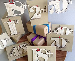 Personalised Birthday Cards - special age birthday cards