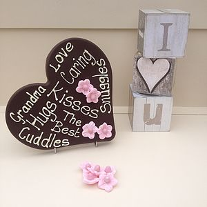 Personalised Giant Chocolate Grandma Heart
