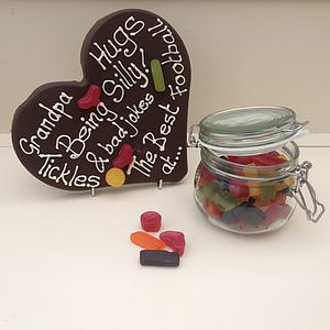Father's Day Personalised Giant Grandpa Chocolate Heart