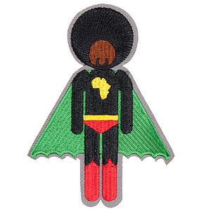 Afro Supa® Woven Badges Sold As A Pair