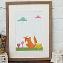 'Fox Amongst The Flowers' Print