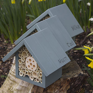 Personalised Bee Hotel - birds & wildlife