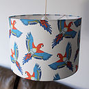 Handmade Tropical Parrot Lampshade