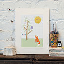 'Owl And Fox' Print