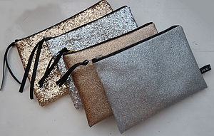 Monogramed Glitter Purse - purses & wallets