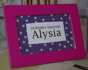 Personalised Slogan Frame