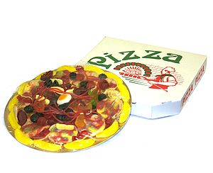 Jelly Sweets Pizza In Box - sweet treats