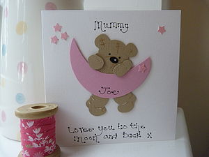 Mother's Day Moon And Stars Personalised Card - personalised cards