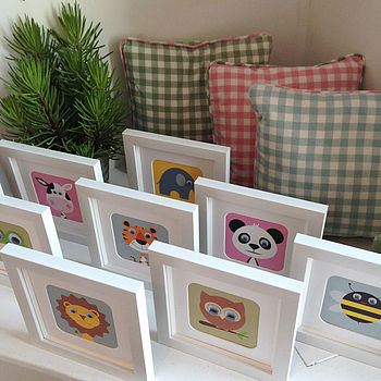 Wobbly Eyed Framed Nursery Prints