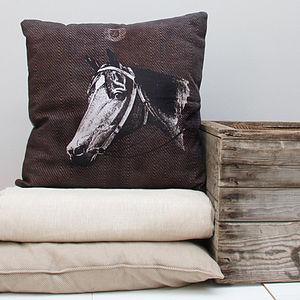 Horse Print Cushion
