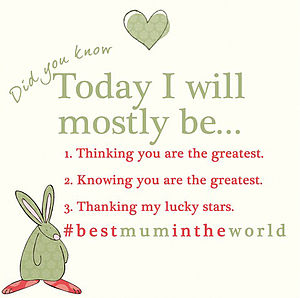 '#Best Mum In The World' Card - mother's day cards