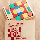 Box Of Wooden Building Blocks