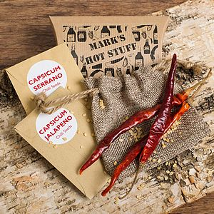 Personalised Grow Your Own Chilli Plants - little extras for him