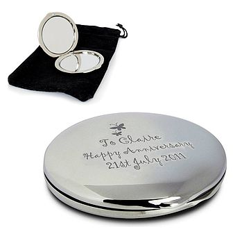 Butterfly Personalised Compact Mirror