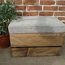 Vintage Style Seat Crate, Three Inch Cushion