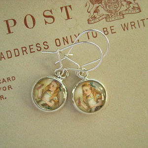 Wonderland Alice Charm Earrings