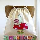 Girl's Personalised Snail Nursery Bag
