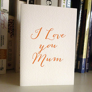 Mothers Day Card   Letterpress