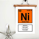 Personalised Periodic Table Print