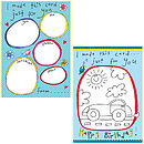 Colour Me In Childrens Birthday Card